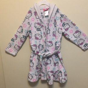 Hellokitty Hooded Fleece Robe for little girls